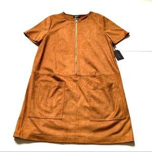 Forever 21 NWT suede pocket zipper dress medium